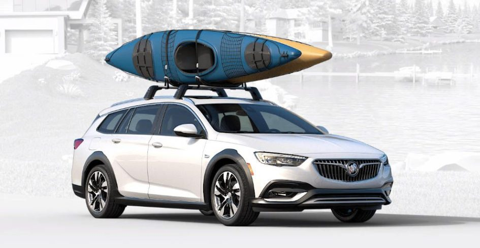 buick regal with a kayak on top