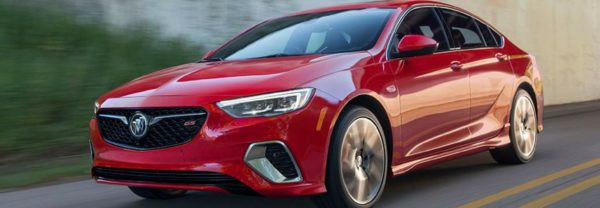 A closeup of the 2018 Buick Regal