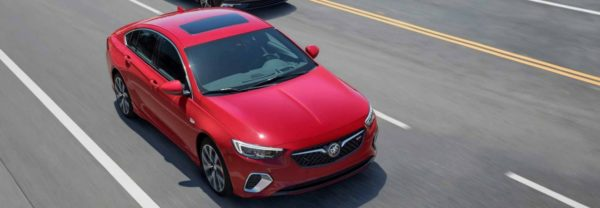 2018 Buick Regal Sportback driving down the road