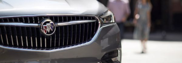 A close-up of the 2018 Buick Enclave featured in a blog post about car care