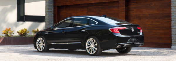 Black 2019 Buick LaCrosse parked in driveway