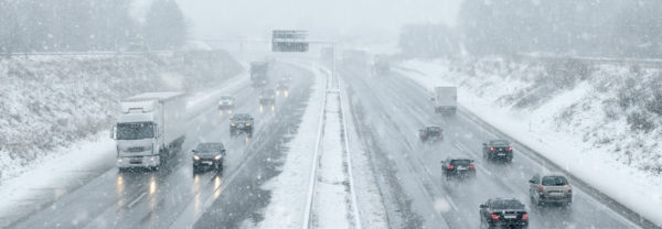 Snow-covered interstate