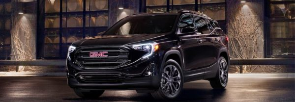 2019 gmc terrain parked outside at night time